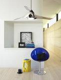 Sfeerfoto van Beacon Artemis nikkel plafondventilator