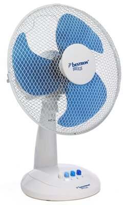 Bestron DFT35W tafelventilator wit/blauw 35 cm